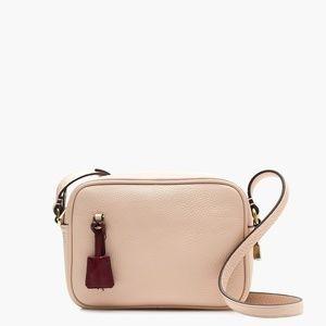 J.Crew Signet Italian Leather Shoulder Bag